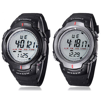 New Waterproof Outdoor Sports Men Digital LED Quartz Alarm Wrist Watch Gift