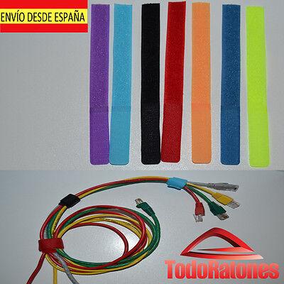 10x organizador cable sujeta para organizar cables ordenador consola organiza.
