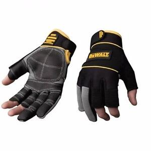 NEW DEWALT-3 FINGER SYNTHETIC LEATHER FRAMER GLOVE- DPG240, LARGE