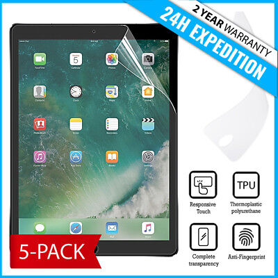 "5-Pack Screen Protector PET Protecteur Foil Soft TPU Film For iPad Pro 10.5"""
