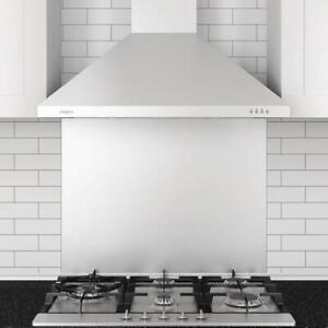 "30"" Ancona WPP430 Wall Mounted Range Hood (Pyramid) LED Lights"