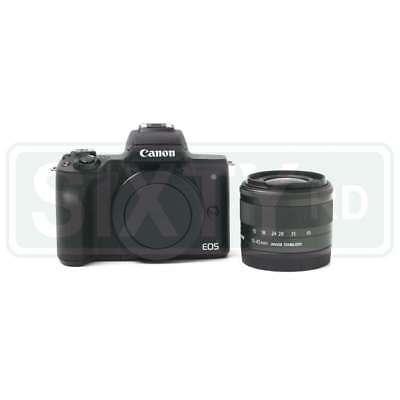 UK Canon EOS M50 Mirrorless Digital Camera with 15-45mm Lens (Black)