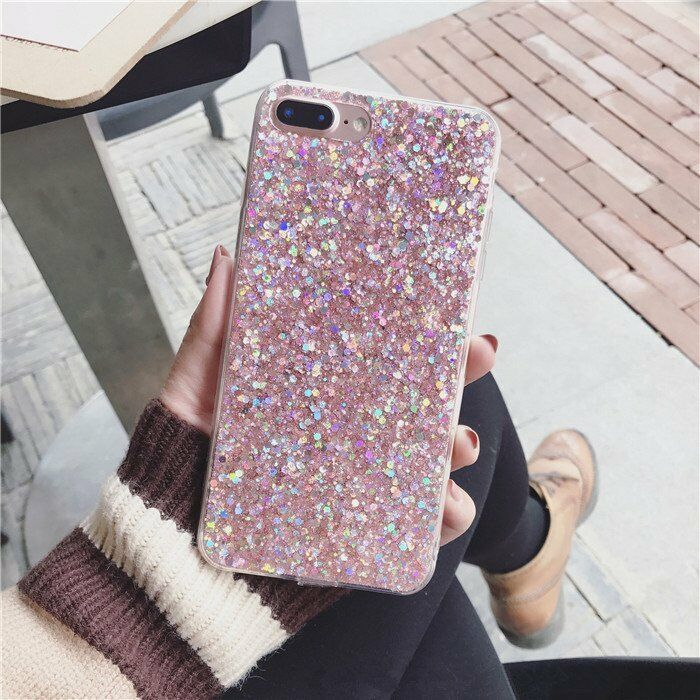 Luxury Bling Glitter Shockproof Soft Silicone Case Cover For Samsung Phones