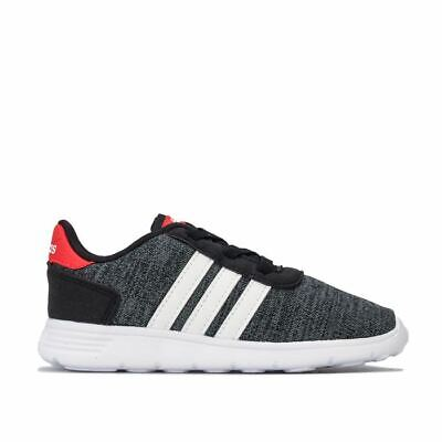 Boy's adidas Infant Lite Racer Cushioned Elasticated Lace Trainers in Black