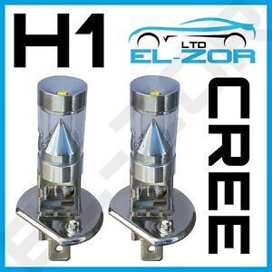 2x H1 SUPER WHITE CREE LENS LED SMD 9W 448 BULBS MAIN BEAM HEADLIGHT HEADLAMP