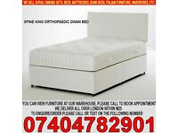 BRAND NEW Single/Small Double/Kingsize Divan Bed Base with 12inch Extrafirm Orthopedic Mattress