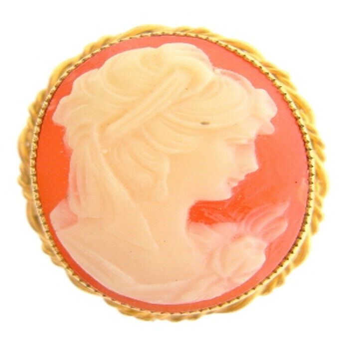 12K Yellow Gold Filled Cameo Broach/Brooch - 1970