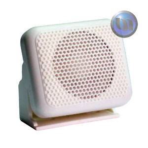 Marine-Extension-Speaker-suit-UHF-VHF-Radios-NEW-White-Compact-Size-3-5mm-Plug