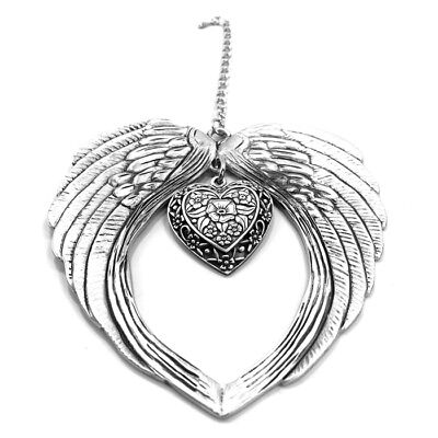 Angel Wings Heart Ornament - Wall Hanging - Keepsake - with Free Gift -