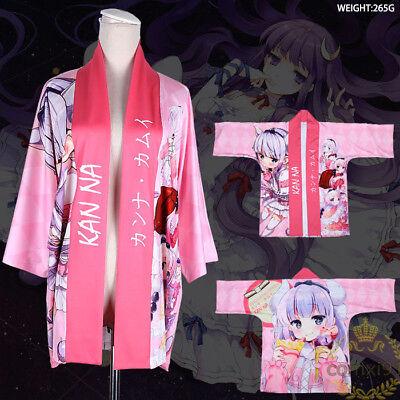Anime Kimono Miss Kobayashi's Dragon Maid Cosplay Yukata Outerwear Haori Coat