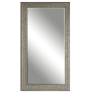 Embossed silver gray full length floor mirror 69 dressing for Gray full length mirror