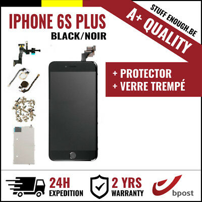 A+ LCD SCREEN SCHERM ÉCRAN FULL ASSEMBLY BLACK NOIR +VERRE TREMPÉ IPHONE 6S PLUS