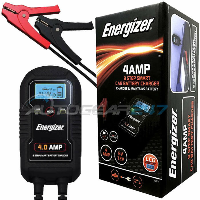 BATTERY CHARGER 4AMP 12v LED HEAVY DUTY TRUCK LORRY ELECTRICAL CAR VAN CARAVAN