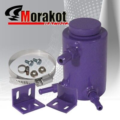 Racing Performance Power Steering Oil Aluminum Can Catch Tank Purple Universal