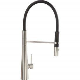 CDA TV11SS Contemporary Conical Base Tap Stainless Steel