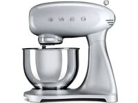 Brand new unopened SMEG silver retro stand mixer SMF01