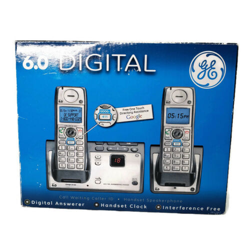 GE 28223EE2 6.0 DECT Dual 2 HANDSETS Single Line Cordless Phone NEW Open Box