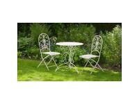 New Lucia garden sets.. bistro set £89.99 Bench + Tete A Tete chairs only £79.99 each