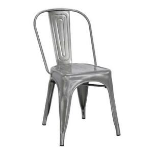 RESTAURANT TOLIX STYLE METAL DINING CHAIR BAR/COUNTER STOOL
