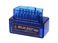 ELM327 (Blue) OBD2 OBDII EOBD Car Bluetooth Fault Code Removal Scanner
