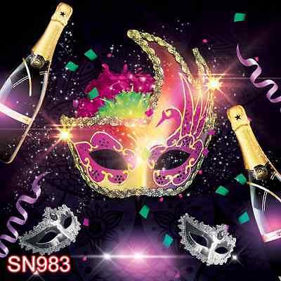 masquerade party  10x10 FT CP  PHOTO SCENIC BACKGROUND BACKDROP SN983 - Masquerade Backdrop