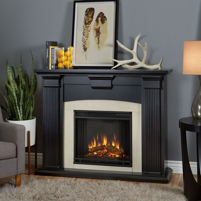 Real Flame Adelaide Electric Fireplace Blackwash 7920E-BW