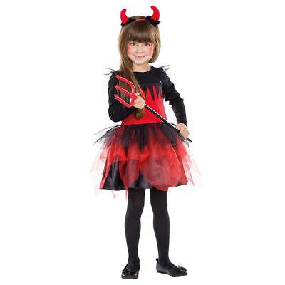 Teufelskostüm für Kinder mit angenähtem Tüllrock, ideal für - Halloween Teufel Kostüm Für Kinder