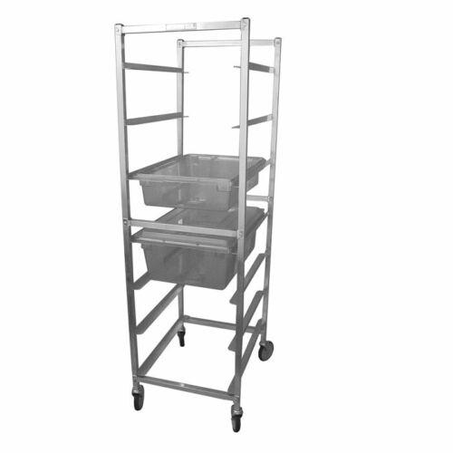 "Poly Food Box Storage Rack, 7"" Spacing, 7 Box Capacity, All Aluminum"