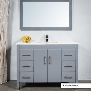 Bathroom Vanity Package 48 Inch All Wood  with Faucet Included