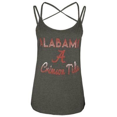 Alabama Tank (Alabama Crimson Tide Tank Top Women's Strap Hitter Double Colosseum NCAA Grey)