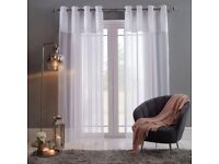 """55""""x87"""" Crushed Velvet Voile Curtains"""