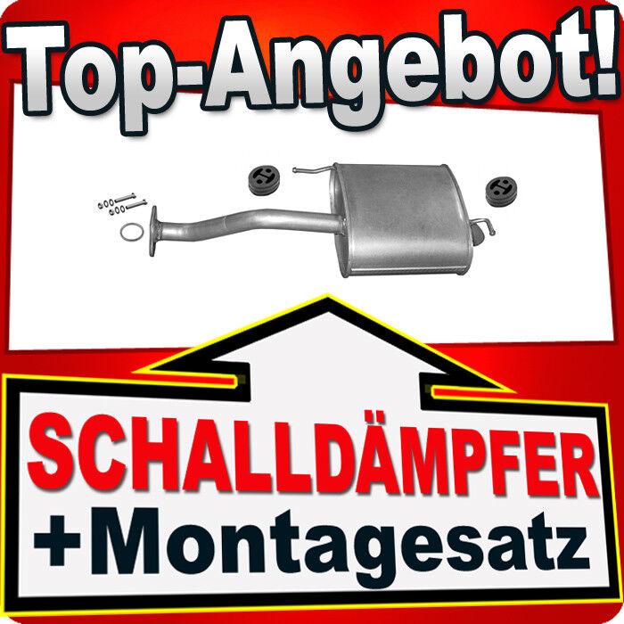 Auspuff-Endtopf Montagesatz Schalld/ämpferset/Mitteltopf