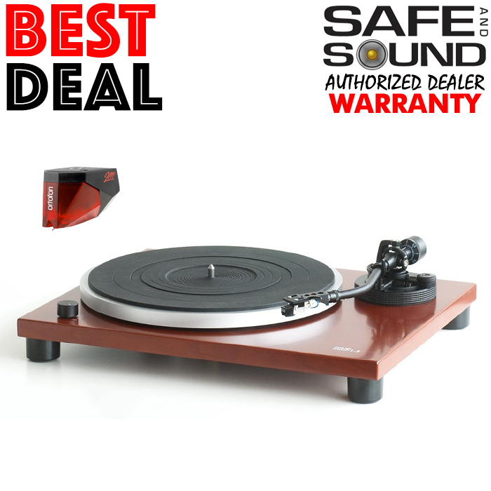 MUSIC HALL MMF-1.5 TURNTABLE CHERRY + 2M RED | MMF1.5