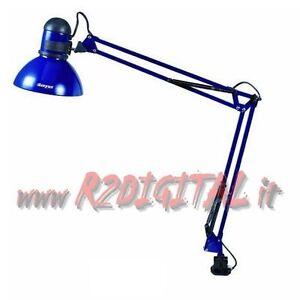 Lampada scrivania con morsetto braccio ancorabile pittura for Lampada scrivania ufficio