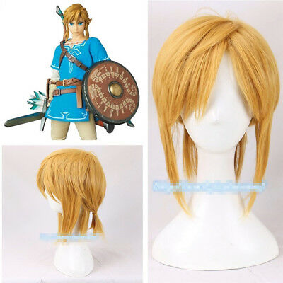 The Legend of Zelda Breath of the Wild Link Perücke Wig Cosplay Costume Kostüme