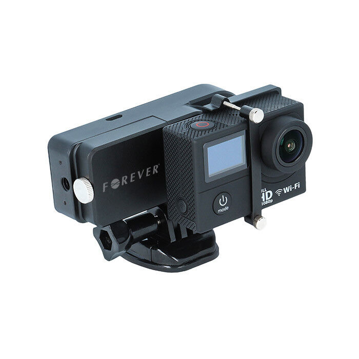 Forever Gimbal 1-Axis Actioncam Mount Set with Battery Compa