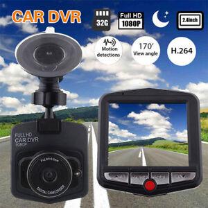 "Full HD 1080P 2.4"" Car DVR Dashcam Dash Cam Camera G-Sensor IR N"
