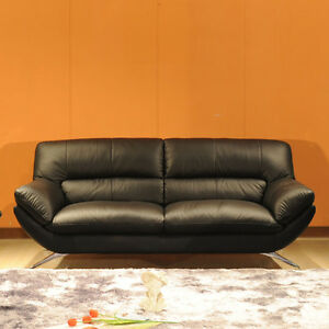 Contemporary GENUINE TOP-GRAIN LEATHER Sofa, Loveseat or Chair