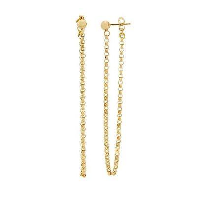 14k Yellow Gold-Filled Rolo Chain Dangle Earrings ()