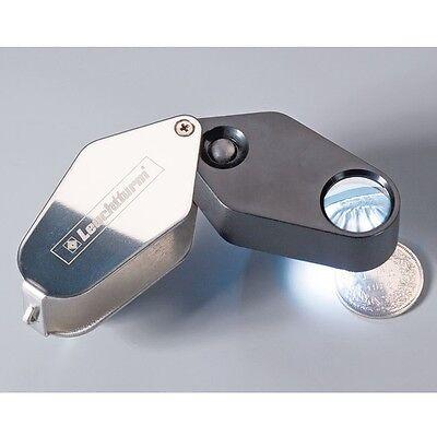 329828 - Leuchtturm LED-Einschlaglupe, 10-fache Vergrößerung, schwarz, Ø 18 mm