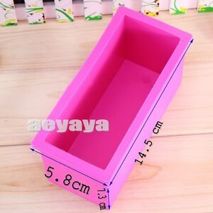 Flexible Silicone Silicon Cuboid Bar Soap Molds Cake Candle Molds 600ml 20oz