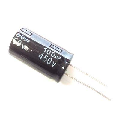 5pcs 450v 100uf 450volt 100mfd 105c Aluminum Electrolytic Capacitor 1830mm