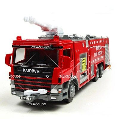 1:50 Water Tank Truck Fire Vehicle Alloy Metal Diecast Model Car By KDW 1/50