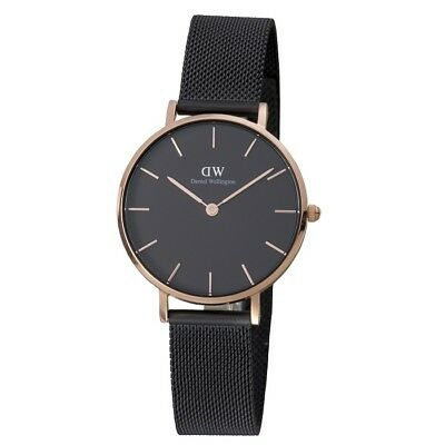 New Daniel Wellington Classic Petite Ashfield Black Mesh Ladies Watch DW00100201