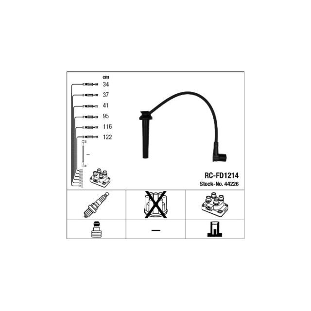 NGK RC-FD1214 Ignition Cable Kit 44226
