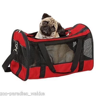 Transporttasche, Katzen Tragetasche - Hundetasche 50 X 28 X 30 cm - rot  31823