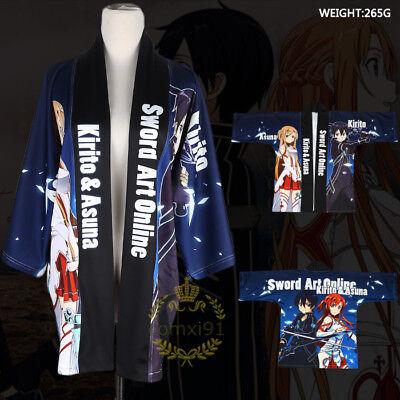 Anime Kimono Sword Art Online Cosplay Costume Yukata Unisex Outerwear Haori Coat