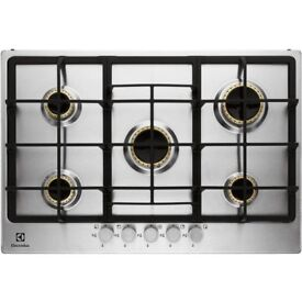 GAS HOB WITH BUILT UNDER DOUBLE OVEN