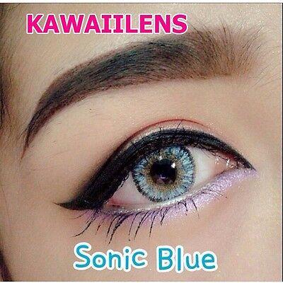 Kontaktlinsen Contact Lenses Soft Cosmetic Color Lens Makeup Eyes Sonic Blue (Blue Color Contact Lens)