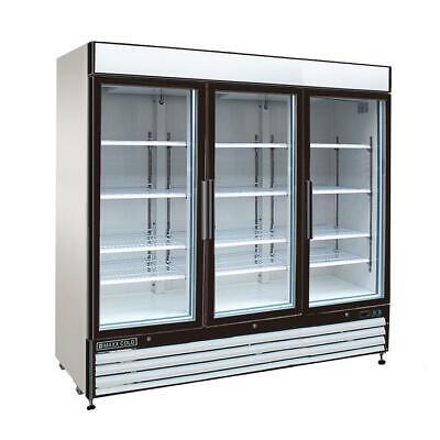 Maxx Cold Mxm3-72r Refrigerator Triple 3 Glass Door Reach In Cooler Merchandiser